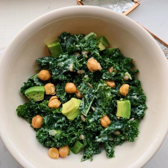vegan casear salad